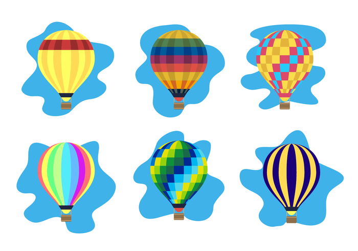 700x490 Colorful Hot Air Balloon Vector