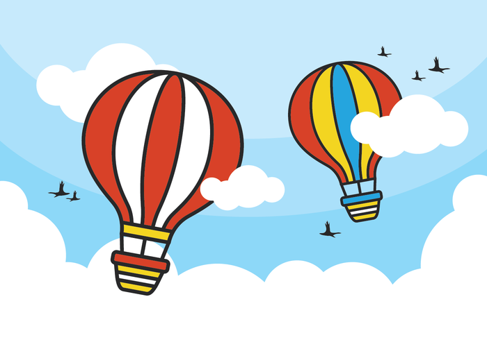 700x490 Colorful Hot Air Balloon Vectors