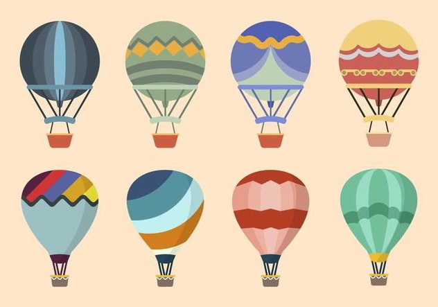 632x443 Flat Hot Air Balloon Vectors Free Vector Download 438673 Cannypic