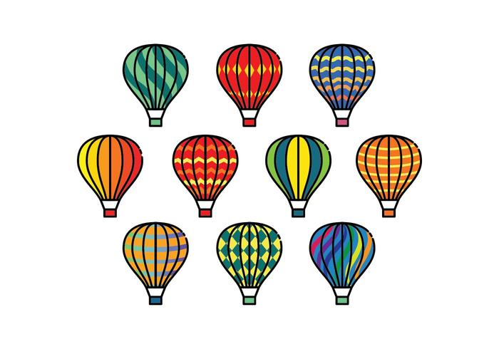 700x490 Free Colorful Hot Air Balloons Vectors Stock Images