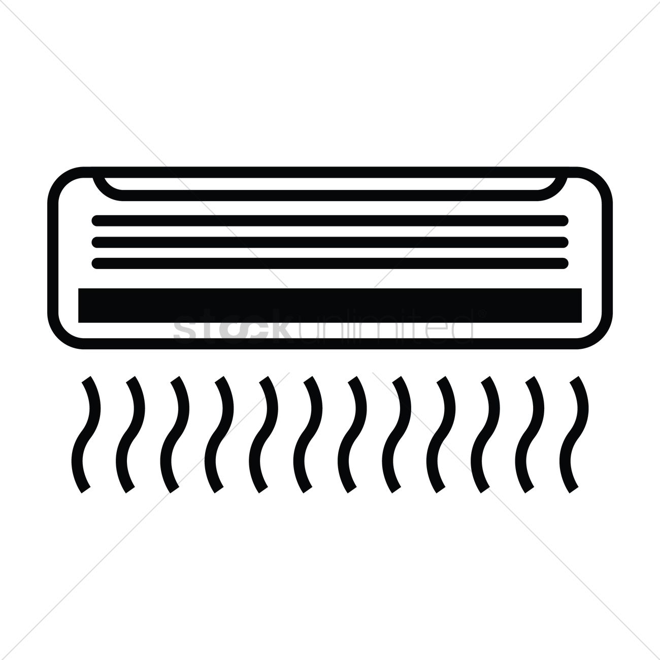1300x1300 Air Conditioner Vector Image