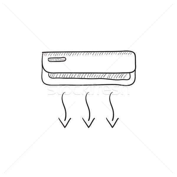 600x600 Air Conditioner Sketch Icon. Vector Illustration Andrei Krauchuk