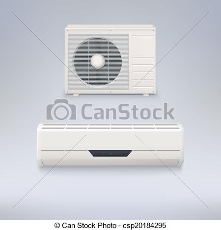 450x470 Air Conditioner. Air Conditioning System, Vector Icons For Your