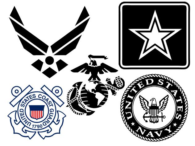 632x474 Military Logos Vector