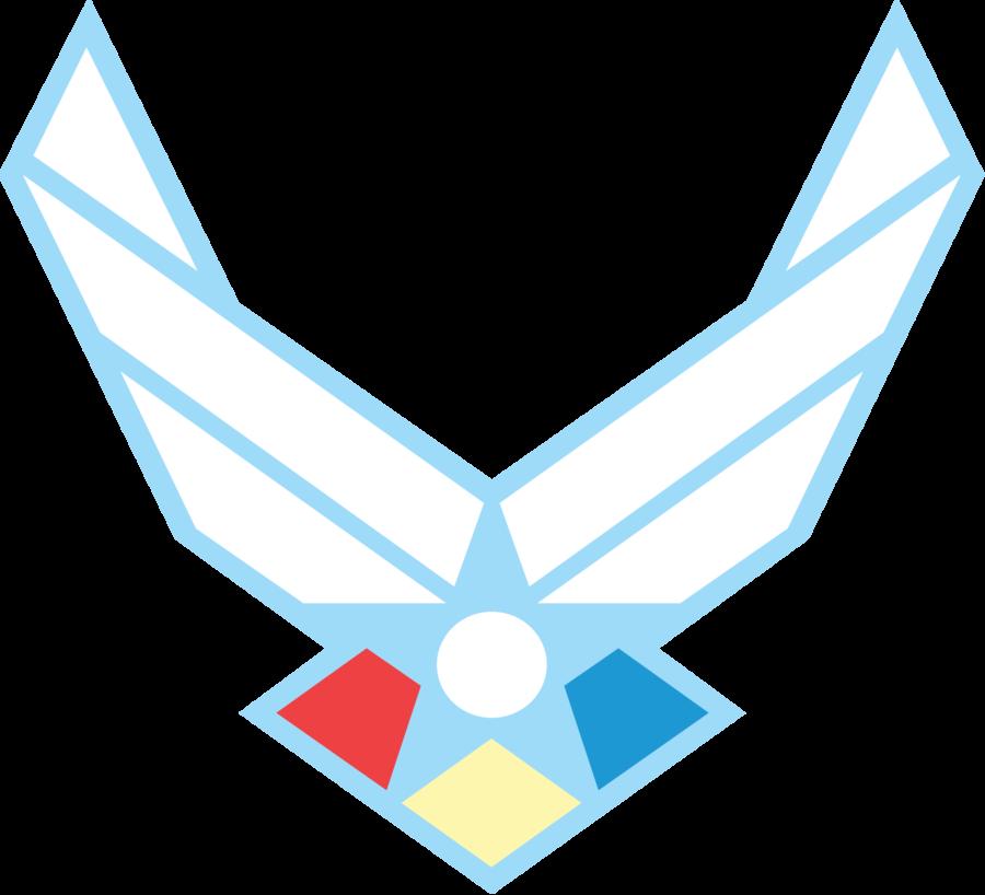 900x818 Rainbow Dash Air Force Logo Vector By Peacockchan