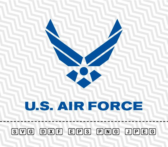 570x497 Svg Us Air Force Logo Vector Layered Cut File Silhouette Cameo Etsy
