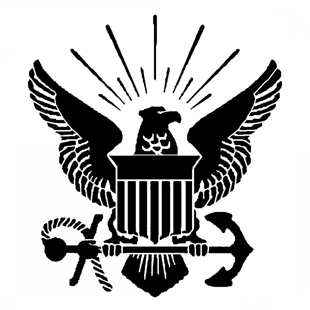 1290x1290 Very Attractive Us Navy Logo Vector Military Logos Army Air Force