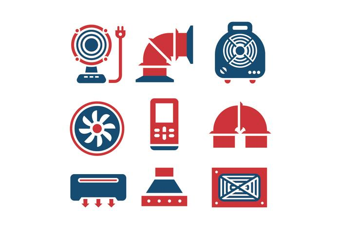 700x490 Air Conditioning And Air Compressor Vector Icons