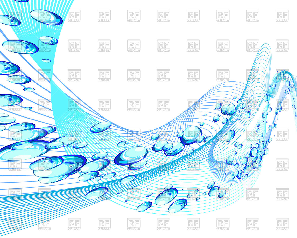 1200x960 Abstract Water Background With Bubbles Of Air Vector Image
