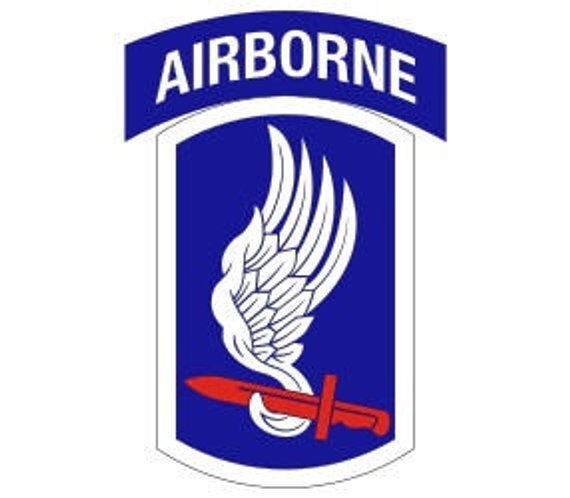570x498 Us Army 173rd Airborne Brigade Patch Vector Files Dxf Eps Svg Etsy