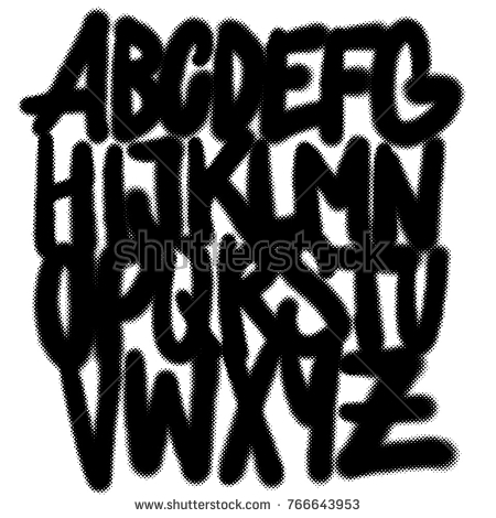 450x470 Letters Alphabet Graffiti Style Airbrush Marker Tagging Stock