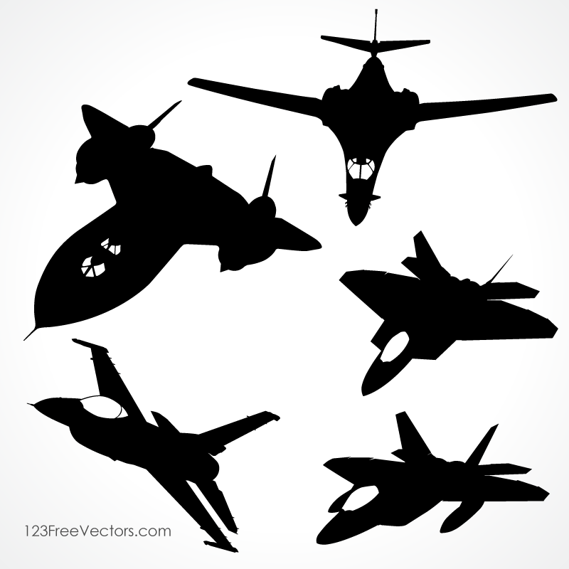 800x800 Fighter Aircraft Vector 123freevectors