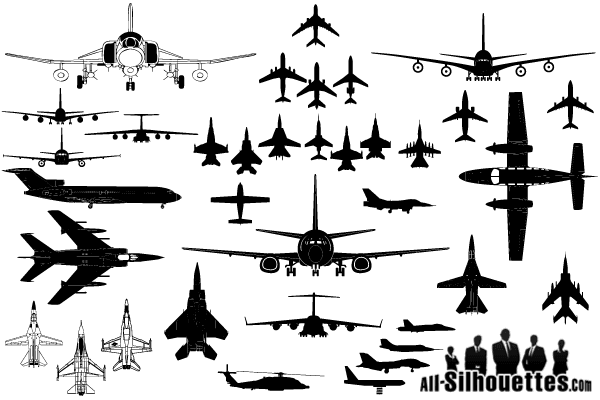 600x400 Free Vector Airplane Clipart Silhouettes Psd Files, Vectors