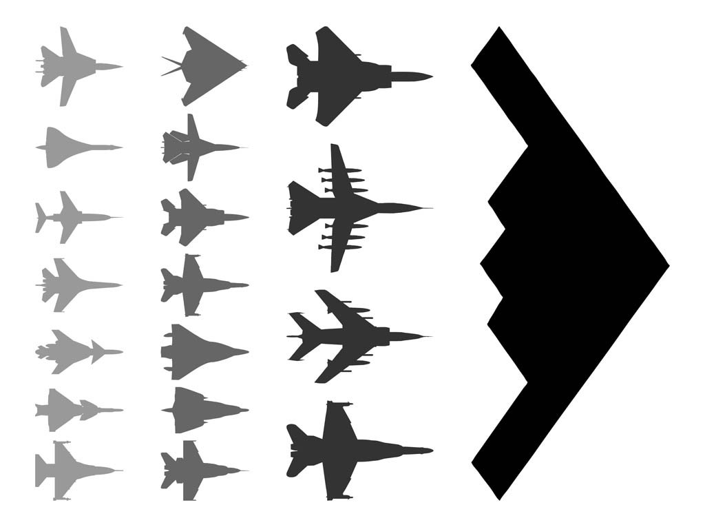 1024x765 Military Aircraft Silhouettes Vector Art Amp Graphics