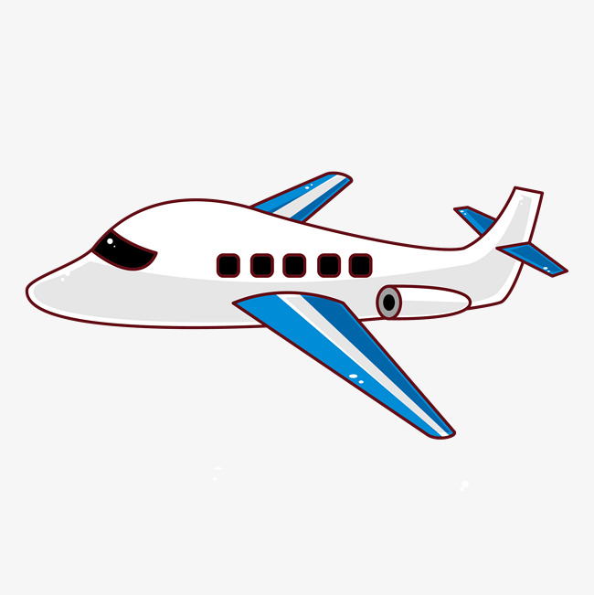 650x651 Mouse Painted Aircraft Vector, Cartoon Airplane, Cartoon Airliner