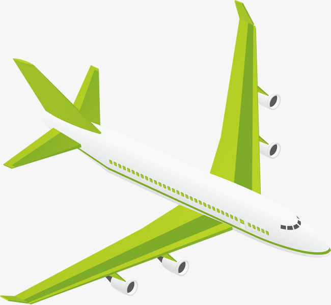 650x599 Plane Png Vector Element, Aircraft Vector, Green, Flight Png And