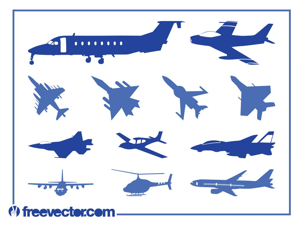1024x765 Aircraft Silhouettes Vector Vector Art Amp Graphics