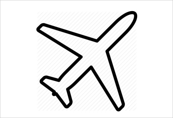 585x400 Airplane Icons Psd, Png, Eps, Vector Format Download