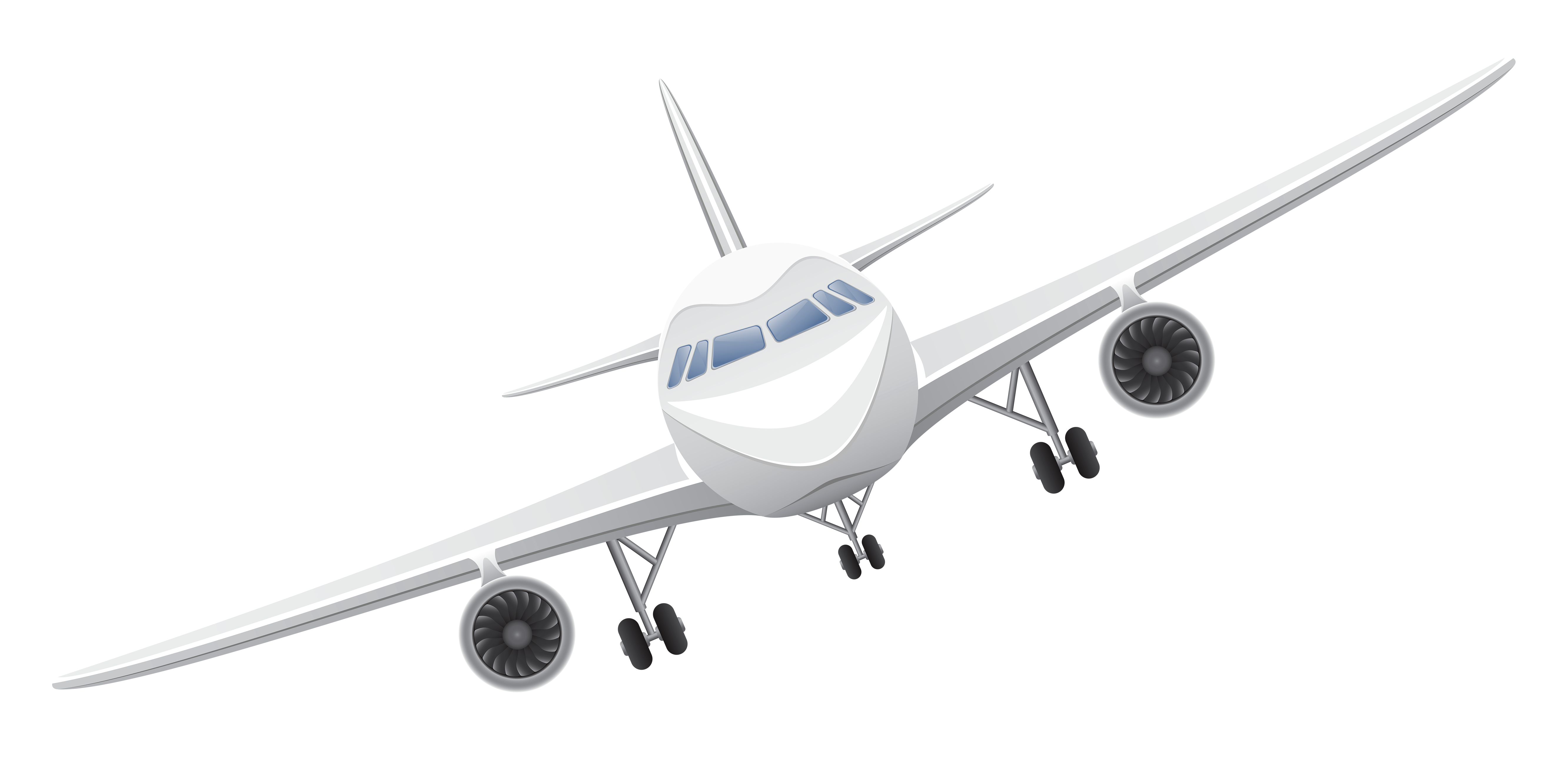 5329x2617 White Airplane Transparent Png Vector Clipartu200b Gallery
