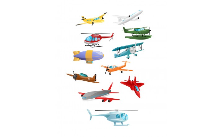 716x443 Airplanes Vector Pack Download Aeroplane, Helicopter Art Free