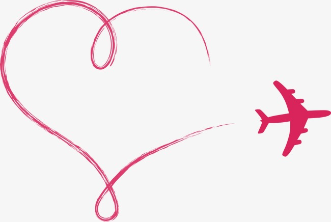 650x436 Vector Love Aircraft, Love Clipart, Aircraft, Cartoon Airplane Png