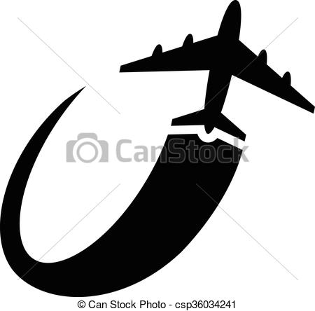 450x444 Airplane Flying Vector Icon.