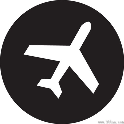 500x500 Black Background Airplane Icon Vector Free Vector In Adobe