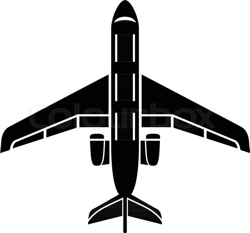 800x743 Passenger Plane Icon. Simple Illustration Of Passenger Plane