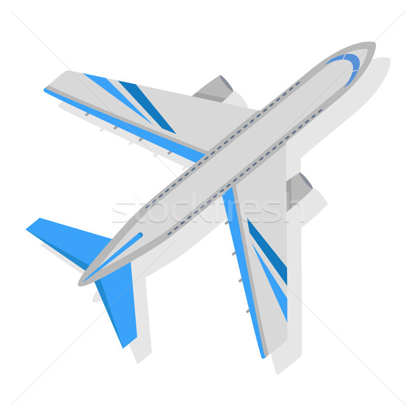 600x600 Plane Vector Icon On White Background. Transport Vector
