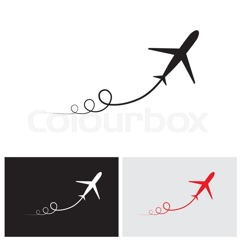 800x800 Vector Icon Of Airplane Take Off Showing Its Path Amp Speeding Up