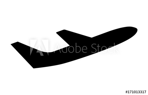 500x322 Airline Airplane Or Jetliner Flight Take Off Flat Vector Icon For