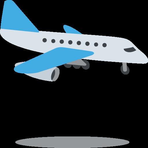 512x512 Airplane Arriving Emoji Vector Icon Free Download Vector Logos