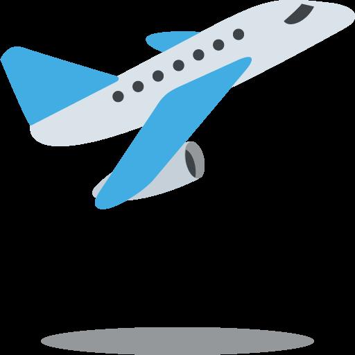 512x512 Airplane Departure Emoji Vector Icon Free Download Vector Logos