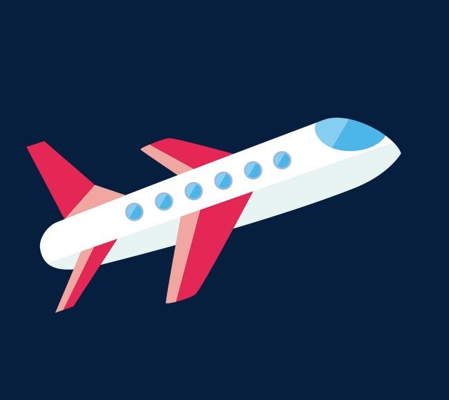 650x580 Cartoon Airplane Vector Material, Airplane Clipart, Aircraft