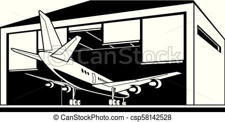 450x245 Aircraft Enter Hangar