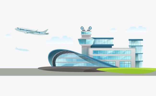 650x400 Vector Material Airport Terminal, Vector Material, Airport