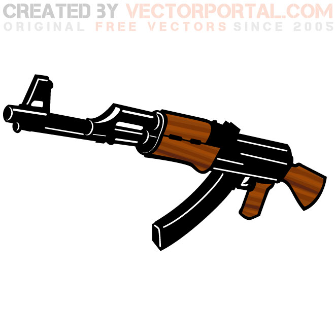 Ak 47 Vector at GetDrawings com | Free for personal use Ak