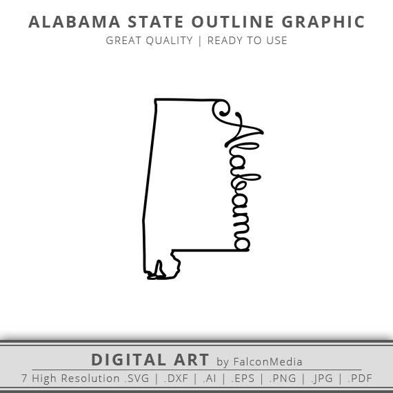 570x570 Alabama Svg Alabama Home State Svg Alabama State Outline Etsy