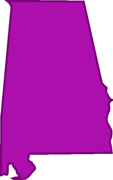 372x592 State Of Alabama Outline Clip Art At Clker Com Vector Online