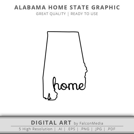 570x570 Alabama Svg Alabama Home State Graphic Alabama State Etsy