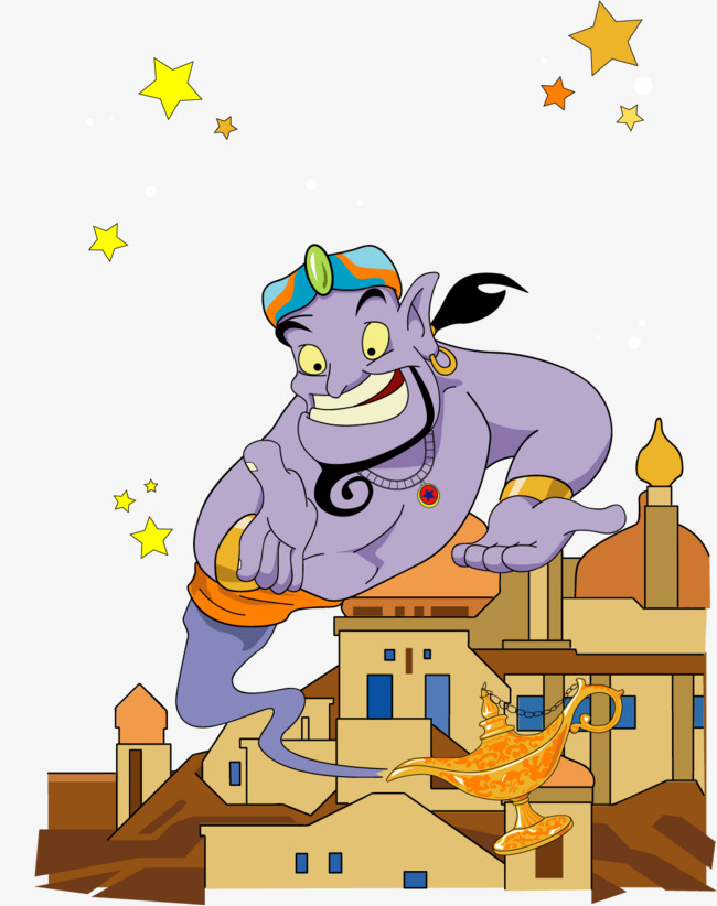 650x822 Vector Painted Aladdin And The Magic Lamp, Vector, Hand Painted