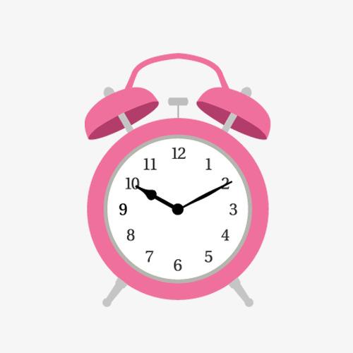 500x500 Pink Alarm Clock Vector Material, Alarm Clock, Pink, Vector