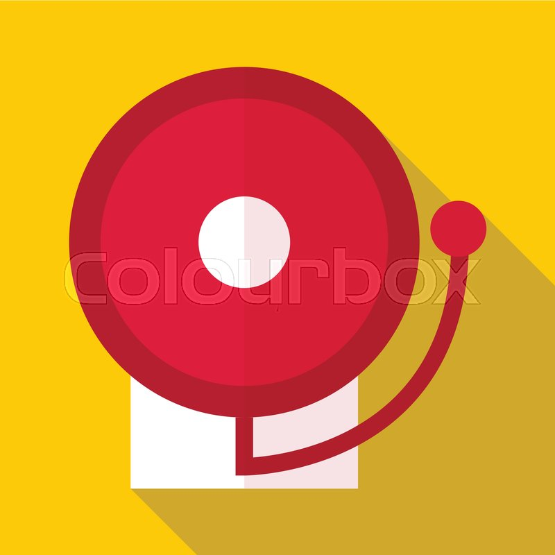 800x800 Fire Alarm Icon. Flat Illustration Of Fire Alarm Vector Icon For