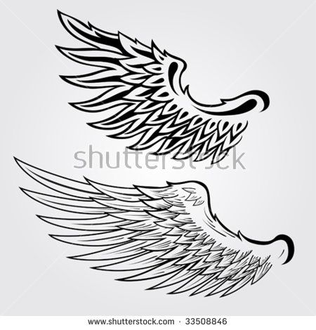 450x470 Detailed Vector Wings Illustration Idei