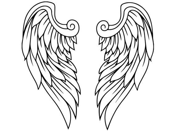 570x429 Fantasy Wings Feather Angel Bird Decoration Freedom Flight Etsy