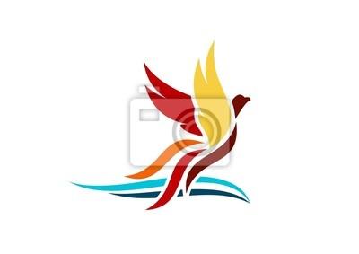 400x283 Logotipo, Phoenix, Volando, Alas, Vector
