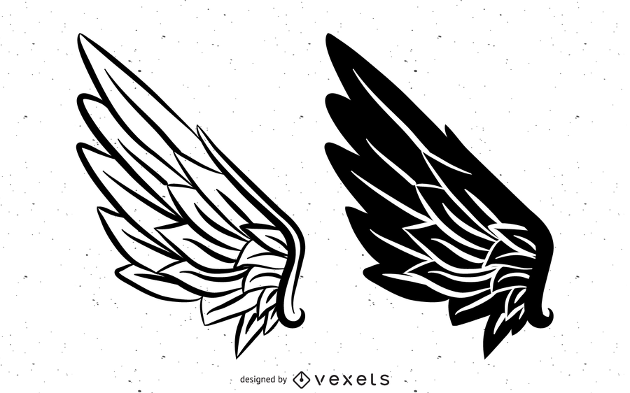 900x562 Black And White Vector Wings Black And White Vector Wings