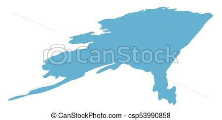 450x244 Alaska State Map. Map Of Alaska State On A White Background