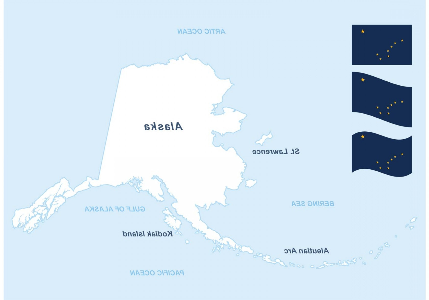 1680x1176 Alaska Vector Map And Flags Shopatcloth
