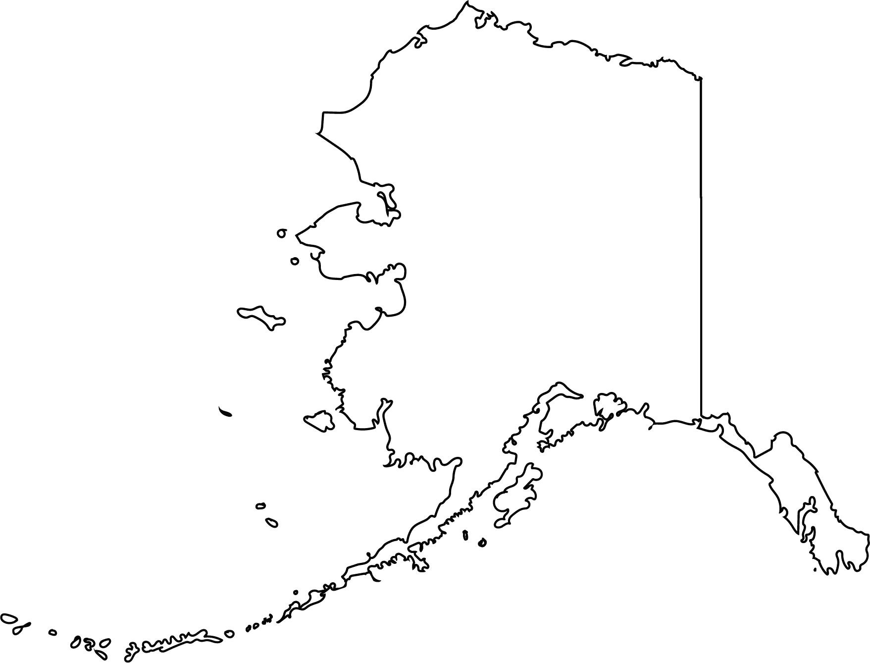 1757x1338 Alaska Vector State Clipart Svg Png Map For Outline